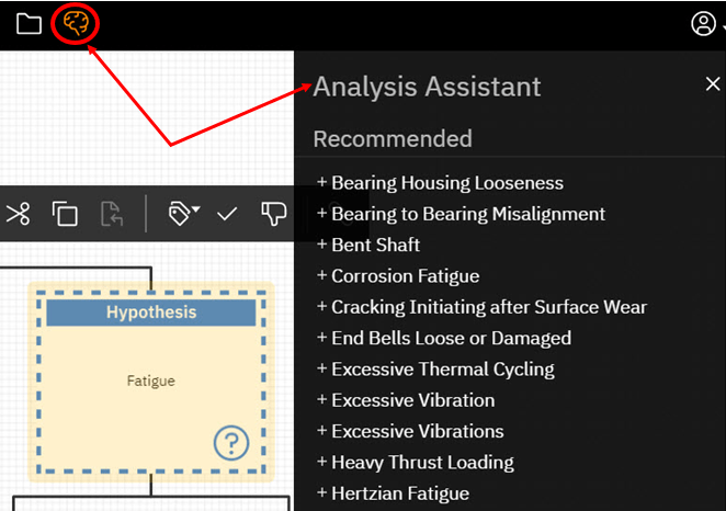 Figure 3: Snapshot of the Analysis Assistant using the EasyRCA Tool
