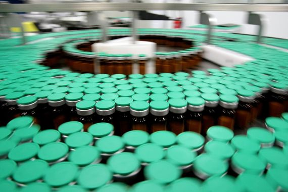 łańcuch produkcji szczepionek