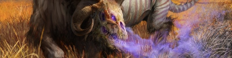 Blight-Breath Catoblepas Art from Theros Beyond Death