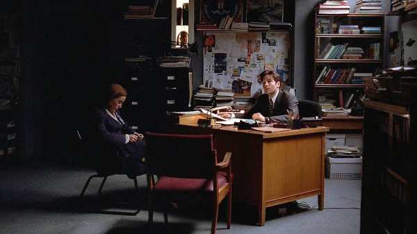 Mulder and Scully in their office X-Files