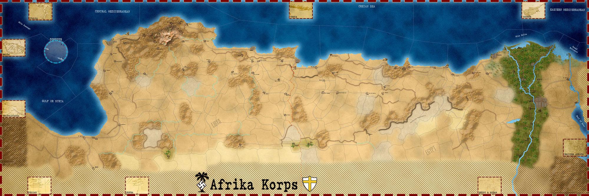 SGS – Afrika Korps - Carte
