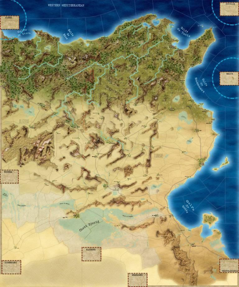 SGS Afrika Korps - Tunisia - map