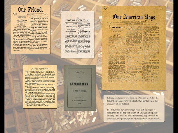 Examples of amateur publications produced by Edward Stratemeyer held by NYPL.