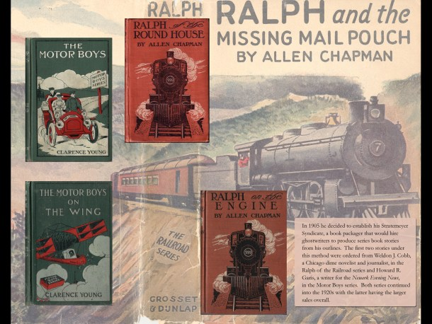The first Stratemeyer Syndicate series were Ralph of the Railroad and the Motor Boys.  They were started in 1905 and published in 1906.