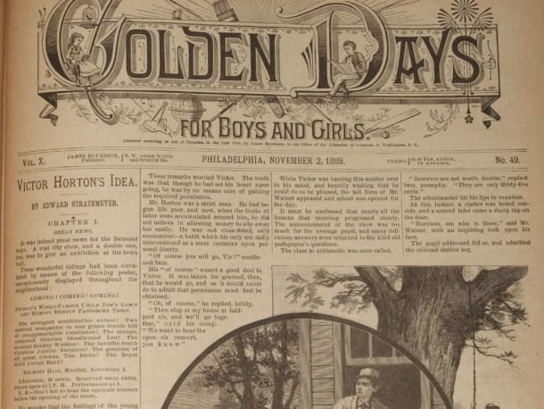 Victor Horton's Idea in Golden Days