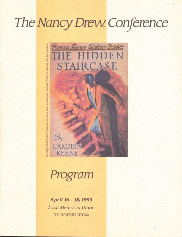 1993 Nancy Drew Conference program book.