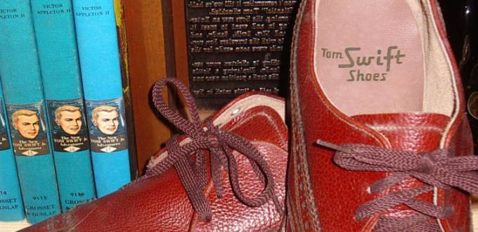 A pair of Tom Swift shoes.