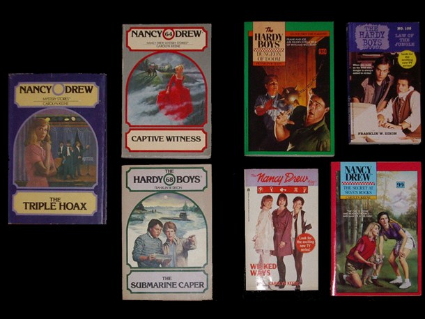 Examples of Wanderer series produced by the Stratemeyer Syndicate and Archway and Minstrel books produced by MegaBooks.