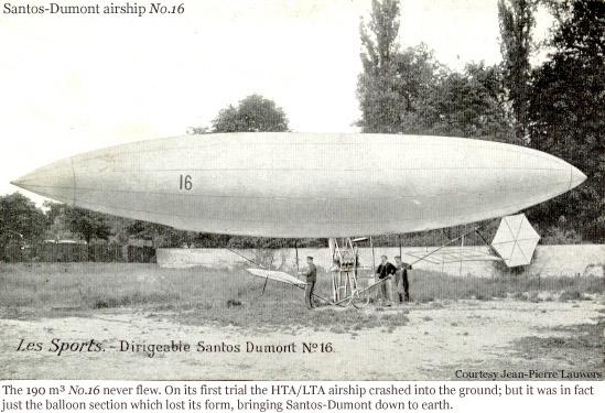 Santos-Dumont No. 16 airship.