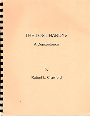 Cover of The Lost Hardys: A Concordance by Robert L. Crawford.