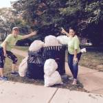 SHDA officers after the monthly cleanup