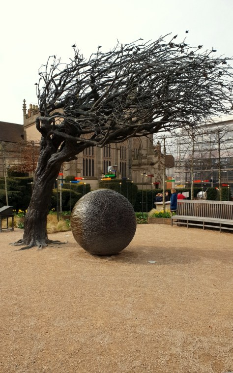 Shakespeare's New Place - the bronze tree ©Stratfordblog.com