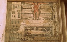 One of the wall paintings at The Guild Chapel ©Stratfordblog.com