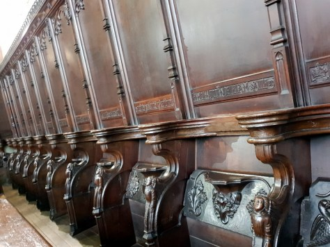 The Misericords and their carvings at Holy Trinity Church, Stratford-upon-Avon ©Stratfordblog.com