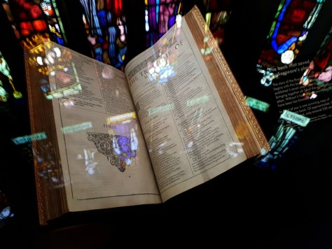 First Folio on display within The Play's The Thing ©Stratfordblog.com