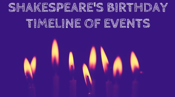 Timeline of events for Shakespeare's birthday