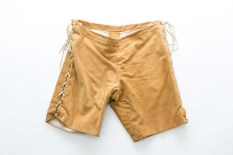 Patrick Stewart's beige suede shorts from Antony and Cleopatra in 2006. Photo by Lucy Barriball