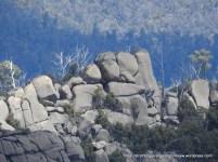 Spectacular boulder heap on the ridge below The Horn.