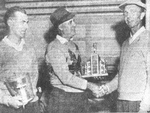1952 a school teacher gets his crown. J.D. Smith (right) Bob Devine (left) and Charlie Nixon