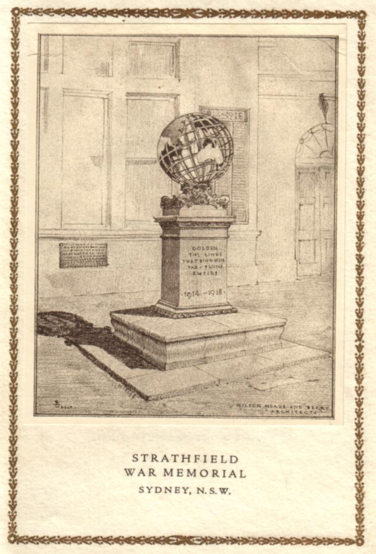 Strathfield War Memorial Opening Invitation (1925)