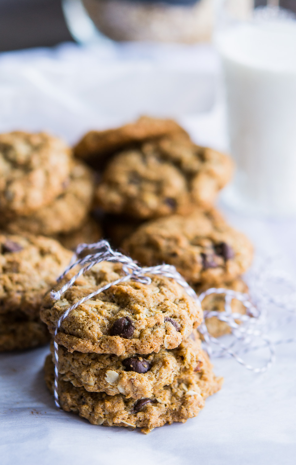 Oatmeal Milled Flaxseed Chocolate Chip Cookies