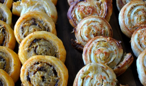 Artichoke Tapenade, Olive Tapenade and Puff Pastry