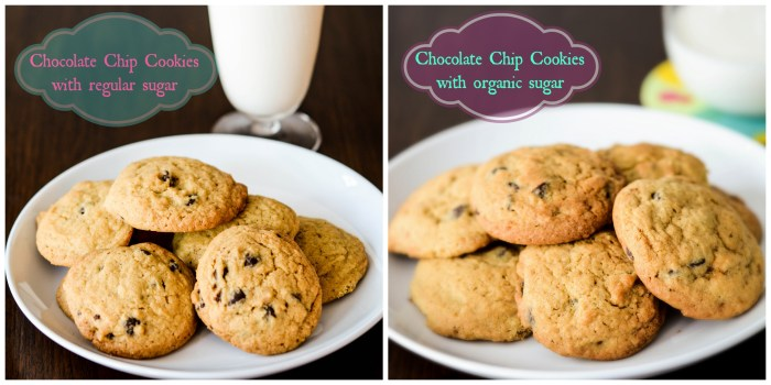 Comparison of chocolate chip cookies