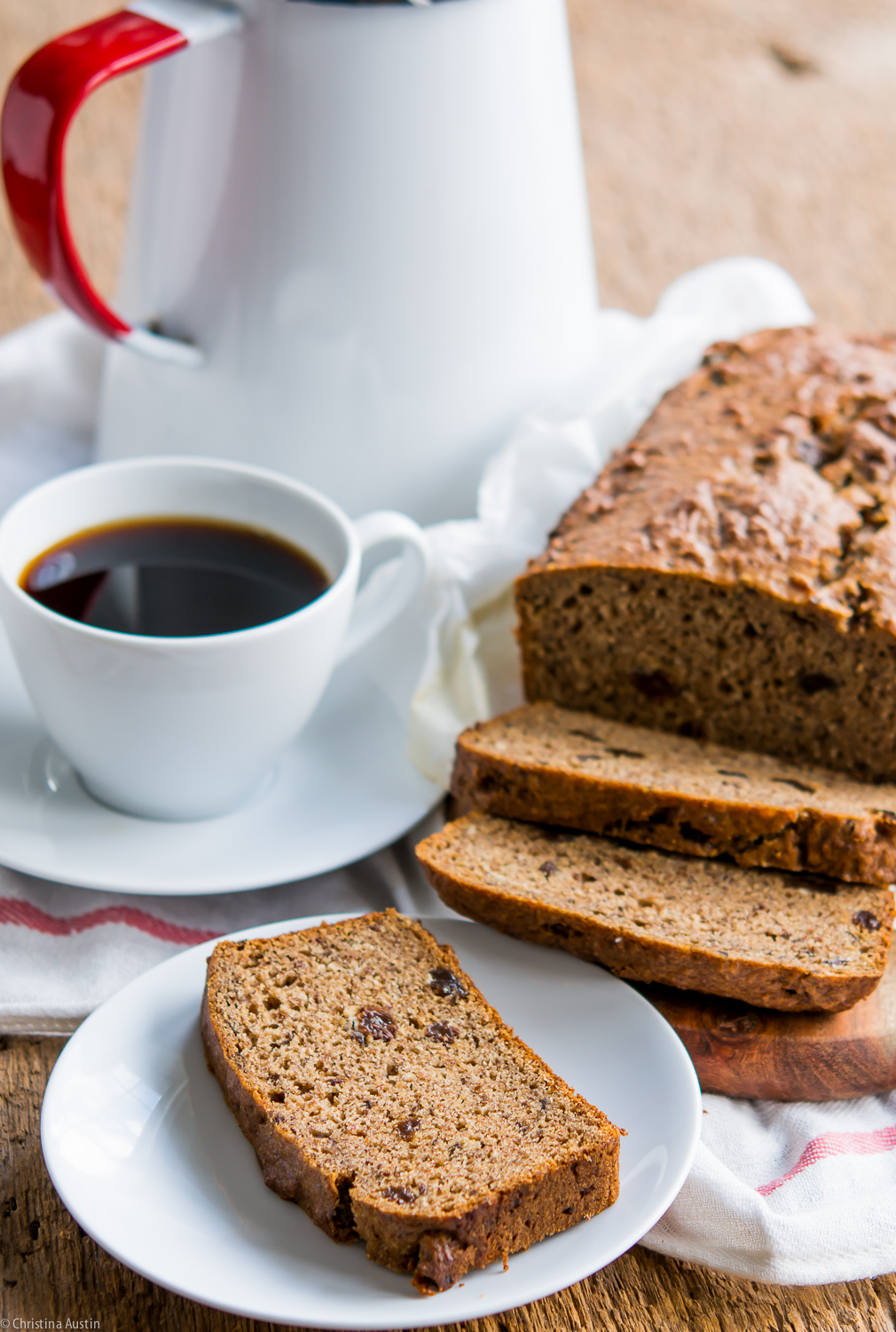 Banana Bread with Prune and Milled Flaxseed