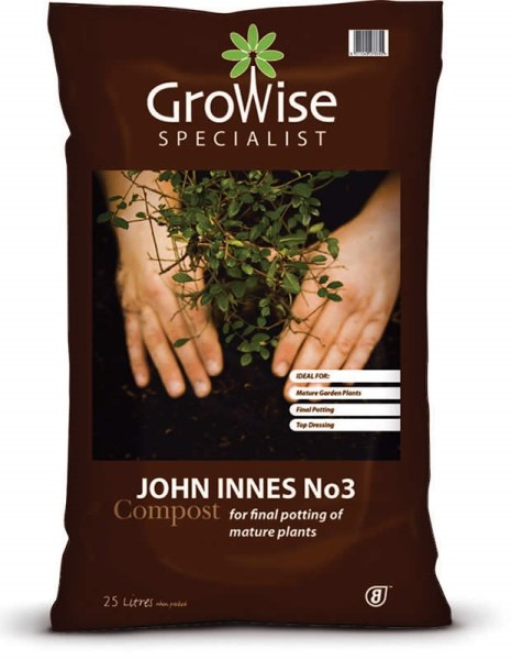 Growise John Innes No. 3 compost available from strawberry garden centre uttoxeter
