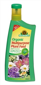 Neudorff Organic_Mulltipurpose_Plant_Feed_1ltr available from Strawberry Garden Centre, Uttoxeter