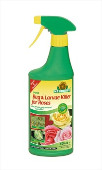 Neudorff Pyrol_Bug_and_Larvae_for_Roses_RTU_500m available from Strawberry Garden Centre Uttoxeter