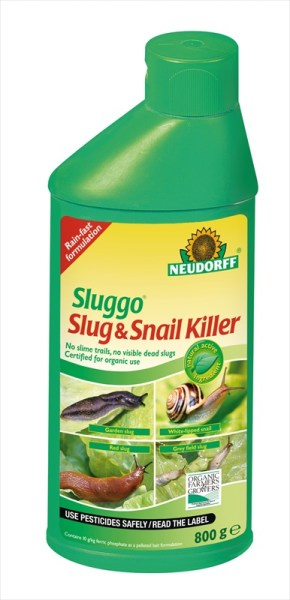 Neudorff Sluggo_Slug_Snail_Killer_800g_available from Strawberry Garden Centre Uttoxeter