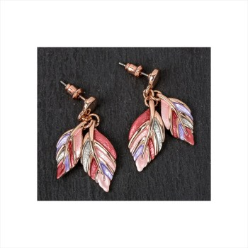 Equilibrium 69446 Warm Tones Leaf Earrings available from Strawberry Garden Centre, Uttoxeter