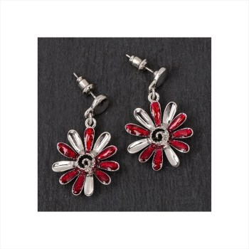 Equilibrium 69482 Moody Tones Daisy Earrings available from Strawberry Garden Centre, Uttoxeter