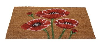 Garden & Home Company 82628 Poppies Coir Doormat available from Strawberry Garden Centre, Uttoxeter