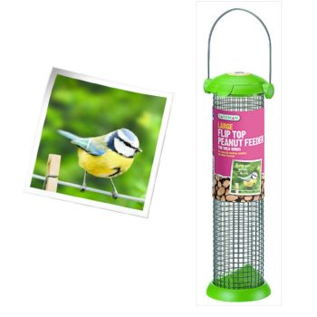 Gardman A01232 Flip Top Nut Feeder available from Strawberry Garden Centre, Uttoxeter