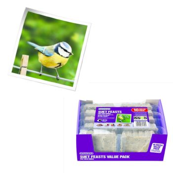 Gardman A04118 suet feast value pack of 10 available from Strawberry Garden Centre, Uttoxeter
