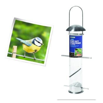 Gardman A04253 large heavy duty nyger feeder available from Strawberry Garden Centre, Uttoxeter