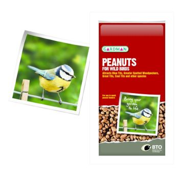 Gardman A05030 Peanuts 4kg available from Strawberry Garden Centre, Uttoxeter