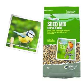 Gardman A05430 Seed Mix 4kg available from Strawberry Garden Centre, Uttoxeter