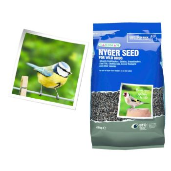 Gardman A06440 Nyger Seed 0.9kg available from Strawberry Garden Cerntre, Uttoxeter