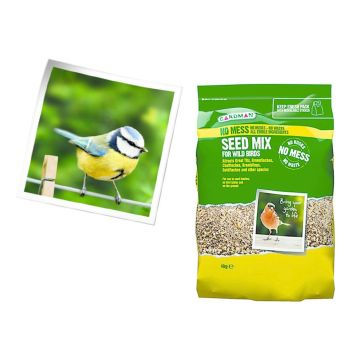 Gardman A06540 No Mess Seed Mix 4kg available from Strawberry Garden Cerntre, Uttoxeter