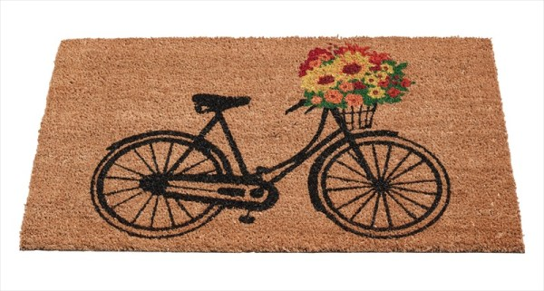 garden-home-company-82919-floral-bicycle-coir-mat-available-from-strawberry-garden-centre-uttoxeter