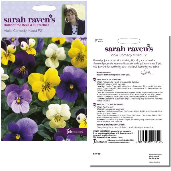 sarah-raven-viola-comedy-mixed-f2-seeds-available-from-strawberry-garden-centre-uttoxeter