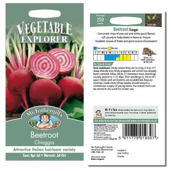 Mr. Fothergill Beetroot Chioggia Seeds available from Strawberry Garden Centre, Uttoxeter