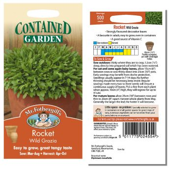 Mr. Fothergill Rocket Wild Grazia Seeds available from Strawberry Garden Centre, Uttoxeter