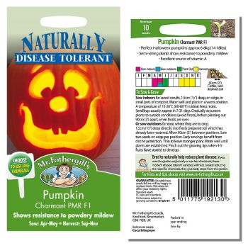 Mr. Fothergill Pumpkin Charmant PMR F1 Seeds available from Strawberry Garden Centre, Uttoxeter