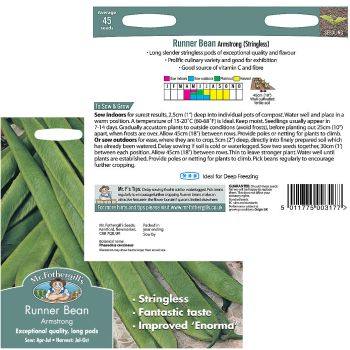Mr. Fothergill Runner Bean Armstrong Seeds available from Strawberry Garden Centre, Uttoxeter