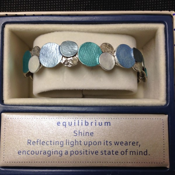 Equilibrium 274345 marine tones tex circles bracelet available from Strawberry Garden Centre, Uttoxeter