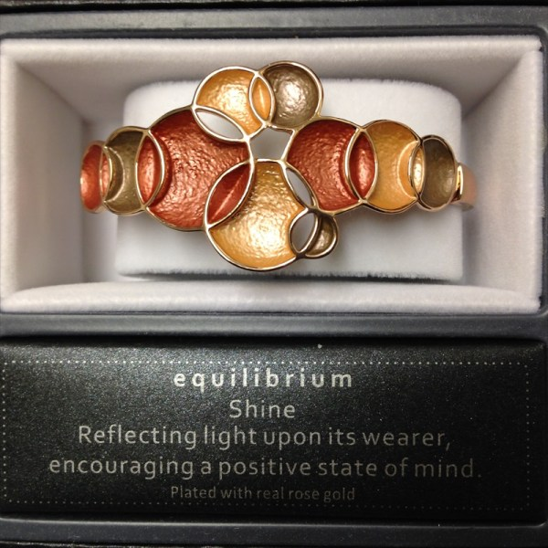 Equilibrium 69465 rose gold plated russet tones bubbles half bracelet available from Strawberry Garden Centre, Uttoxeter